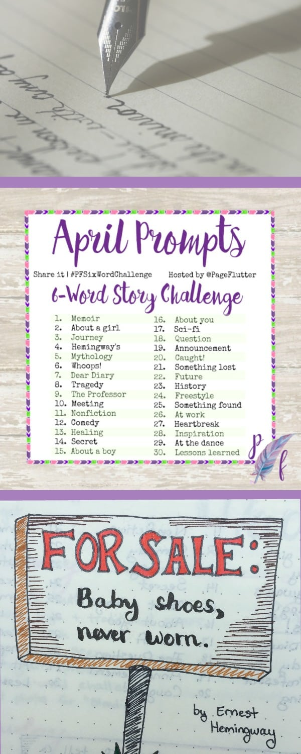 April Six-Word Challenge Prompts | Pageflutter.com | April Prompts are up! Bring a little inspiration to your daily routine with the #PFSixWordChallenge!