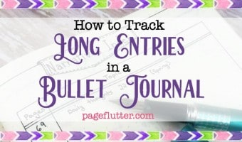 How to Track Long Entries in a Bullet Journal | The Narrative Entry Hack