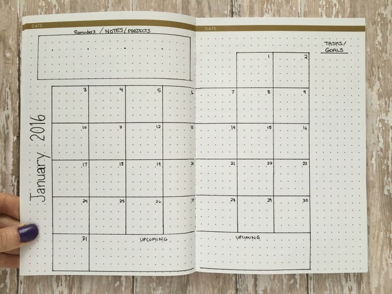 Calendar Bullet Journal : Monthly layouts to simplify your life page flutter