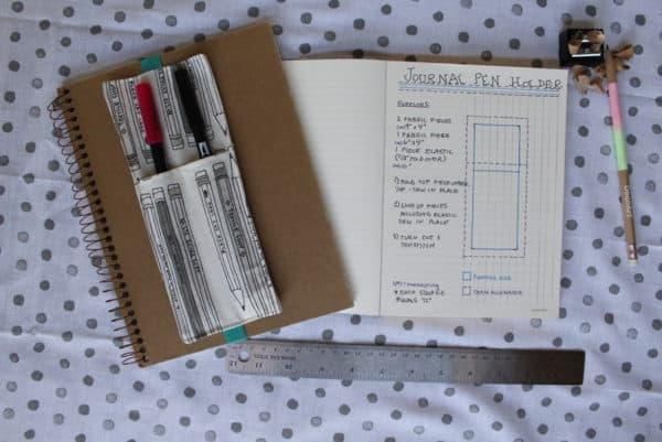 Journal Pen Holder Tutorial | www.pageflutter.com