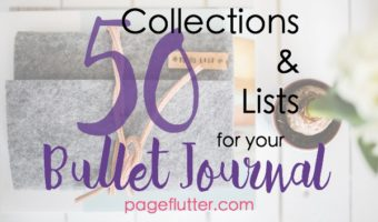 50 Collections & Lists for your Bullet Journal