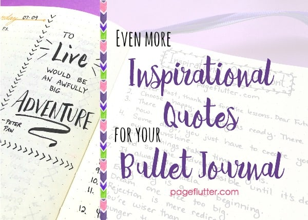 Quotes Journal Beauteous More Inspirational Quotes For Your Bullet Journal  Page Flutter