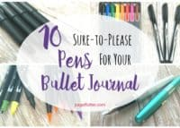 Great pens help you plan productively in your #bulletjournal. Stress-free BuJo supplies.