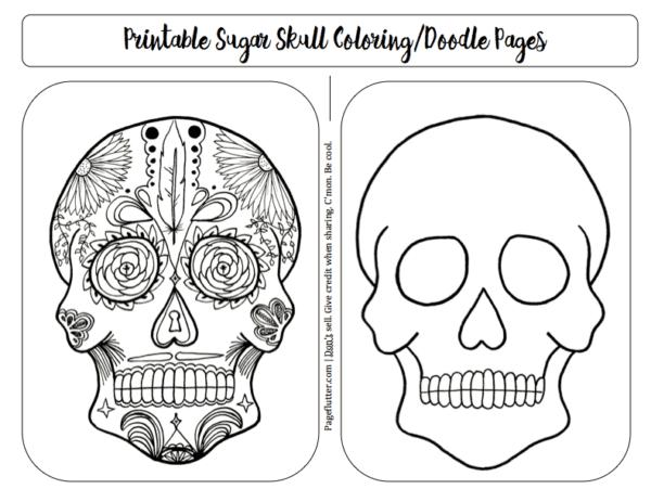 sugar skull printable  u0026 journal remembrance pages