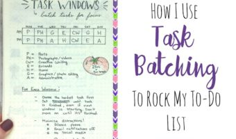 How I Use Task Batching to Rock My To-Do List