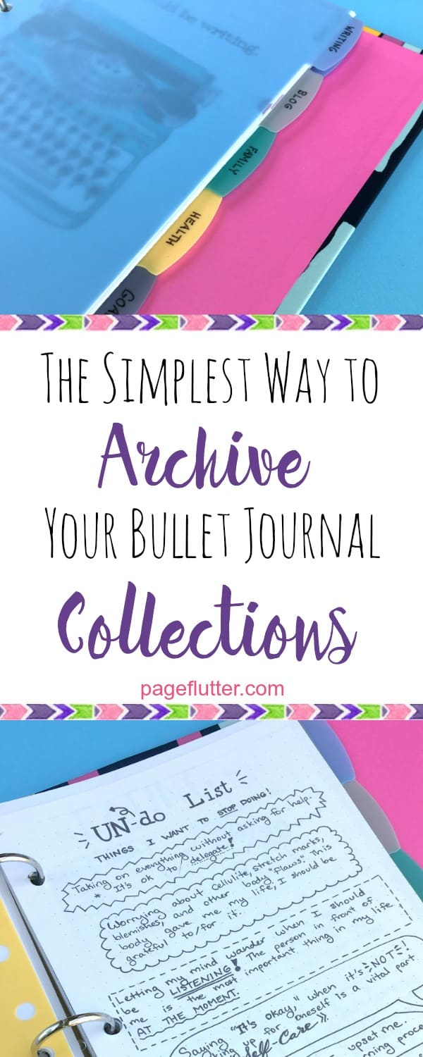 An archive merges years of bullet journal collections, organizes each area of your life.