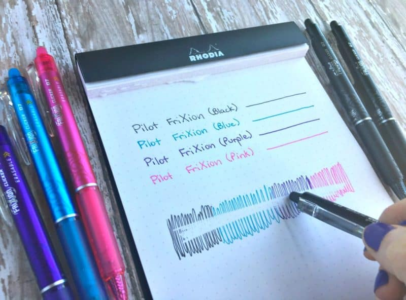 I tried Pilot FriXion erasable gel pens in my bullet journal, and here's what happened.