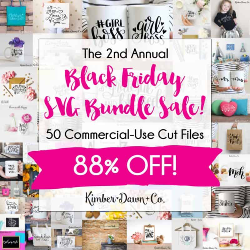 Kimber Dawn Co. Black Friday Bundle, Silhouette Cut Files
