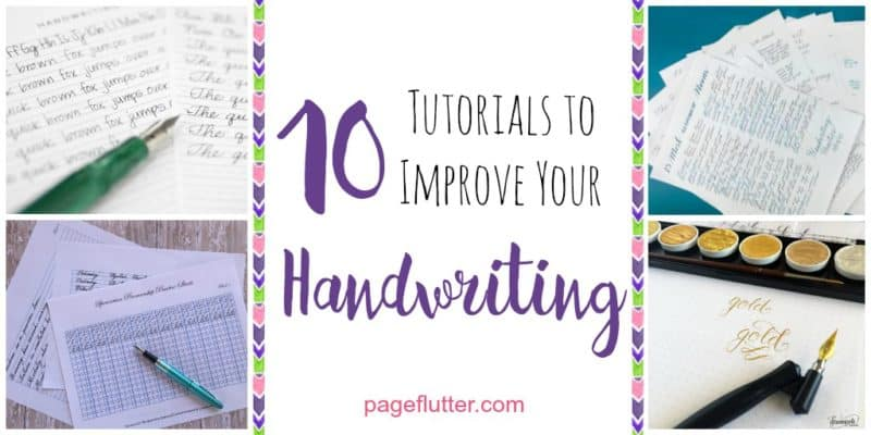 10 Handwriting Tutorials for Your Bullet Journal | Page Flutter