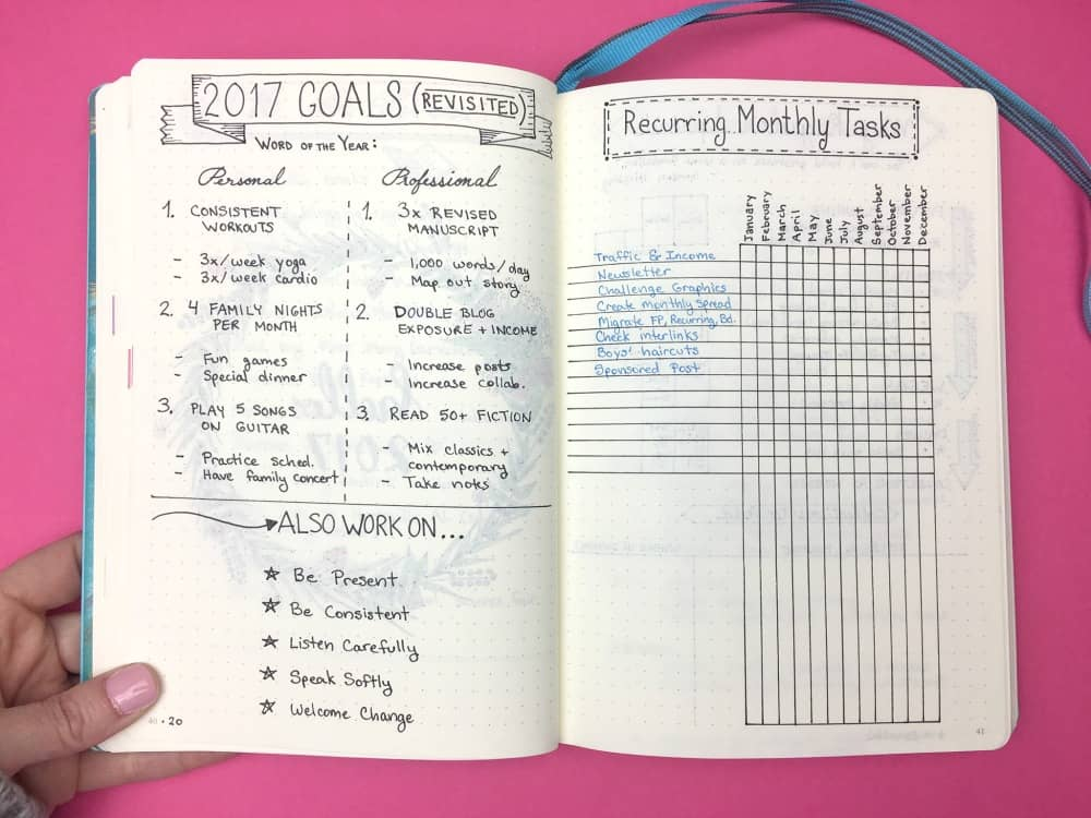 How To Create Your Best Year Ever My 2017 Bullet Journal
