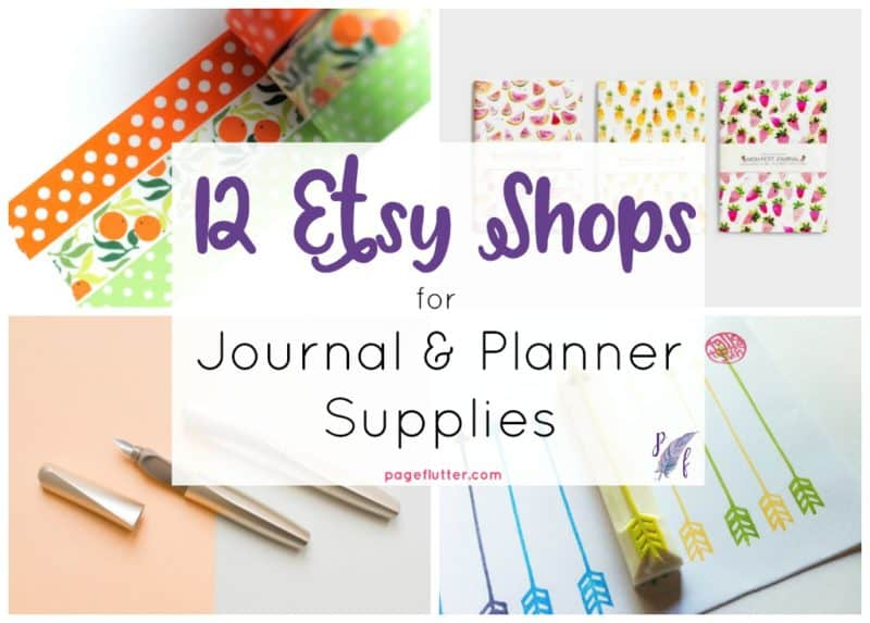 photo about Planner Supplies titled 12 Irresistible Etsy Outlets for Magazine + Planner Resources