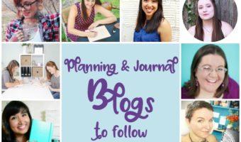 Planning + Bullet Journal Blogs to Follow