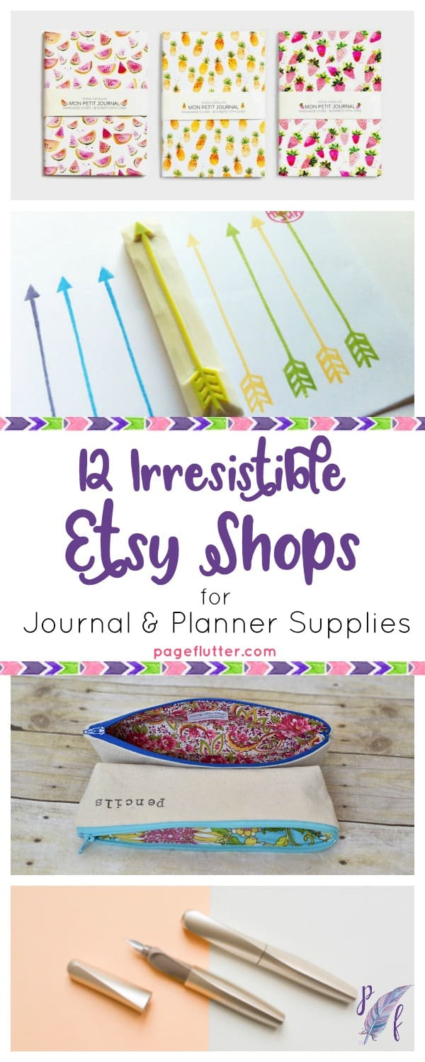 graphic relating to Planner Supplies named 12 Irresistible Etsy Outlets for Magazine + Planner Resources