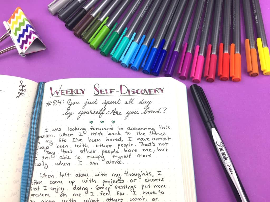 52 Weeks Of Self Discovery Prompts For Your Bullet Journal Page