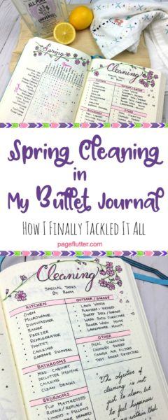Tackle Spring cleaning with KonMari and my Bullet Journal.