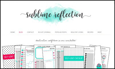 Sublime Reflection, one of my top blogs to follow for planning, bullet journaling, productivity, and intentional living.