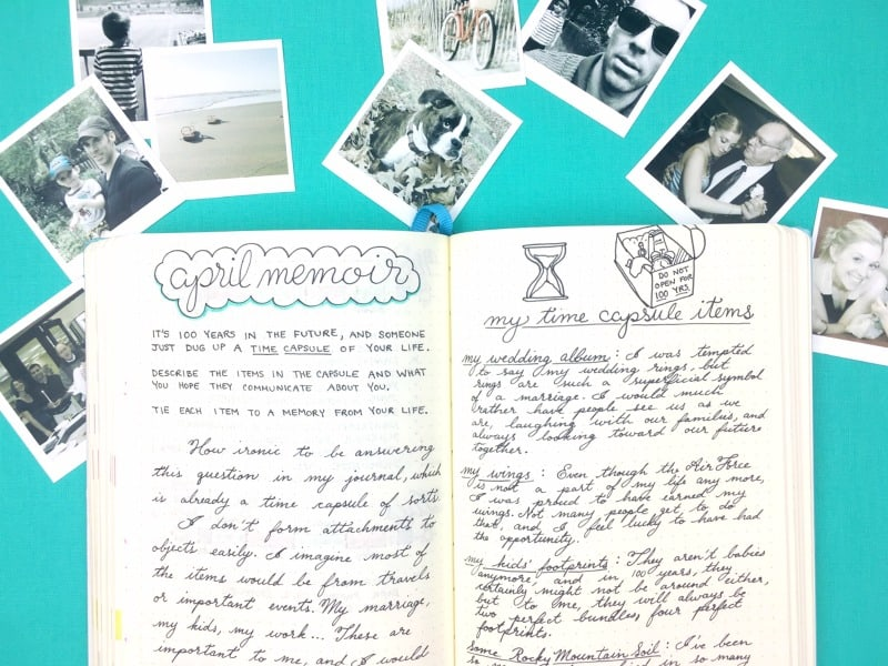 Memoir prompts for creative writing in your journal. Discover yourself through memories.