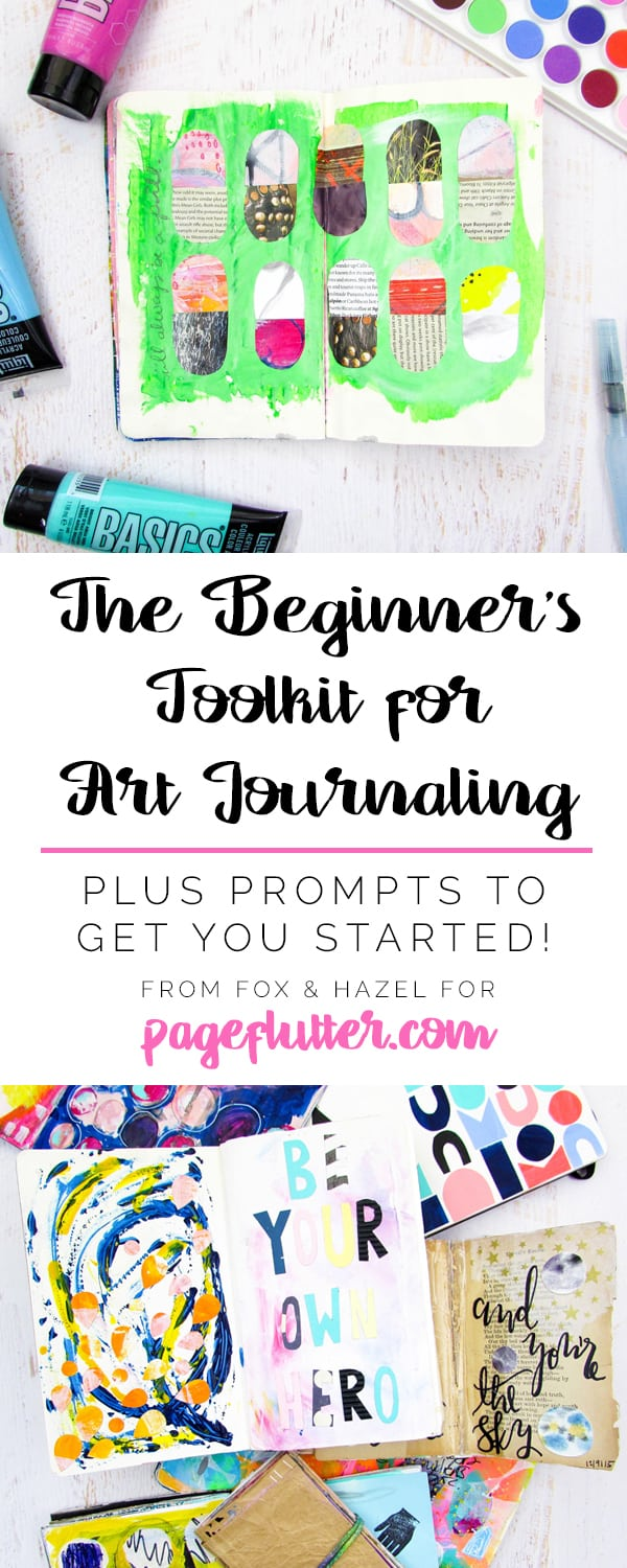 Art Journaling Beginners Guide - Fox + Hazel for Page Flutter
