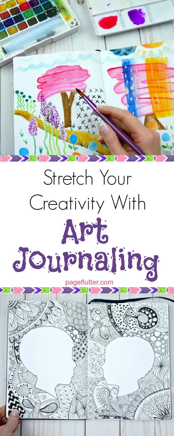 Afraid to experiment in your bullet journal? Give art journaling a try.