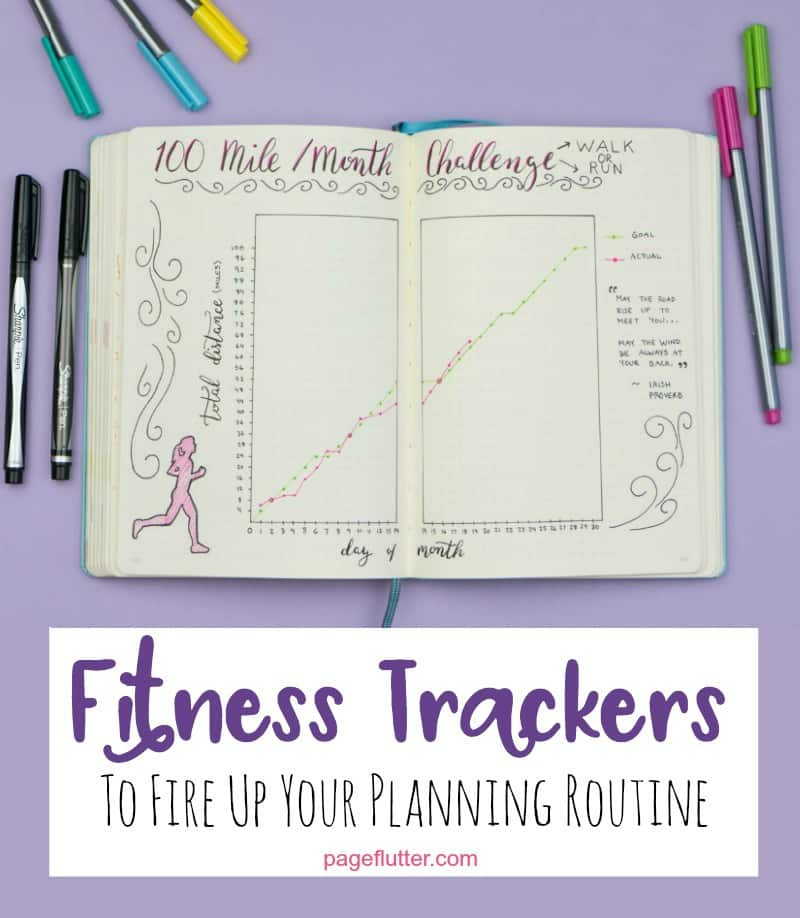 journal fitness trackers for weight loss, running, yoga, and other fitness goals.