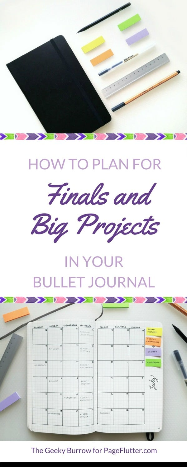 Need studying tips? A Bullet Journal is great for organizing final exams, big projects, and boosting productivity.