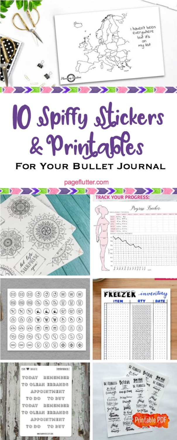 Planner printables and stickers are great shortcuts for Bullet Journaling