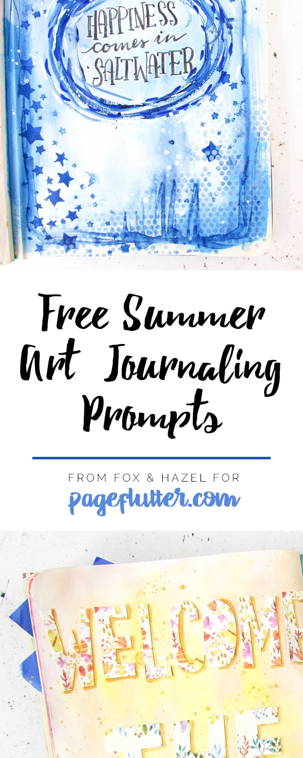 Summer Art Journaling Prompts - Fox + Hazel for Page Flutter