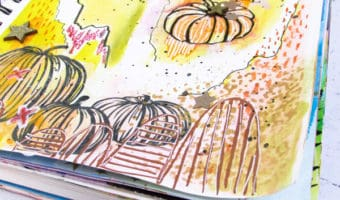 Fall Inspired Art Journal Pages Process Video + Free Prompts