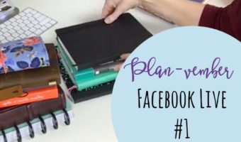 Planvember Day 1 | Choosing & Prepping Your Notebook (Facebook LIVE Replay)