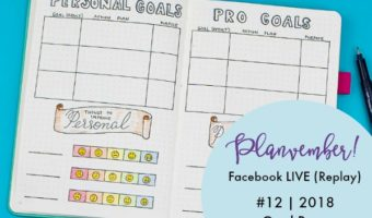 Planvember Day 12 | 2018 Goal Planning Page