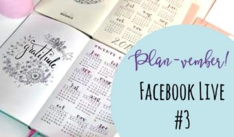 Planvember Day 3 | Year-at-a-Glance Calendar Page (Facebook Live)