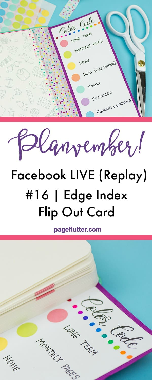 An easy journal index flip out card to organize your planning pages. #journal #plannerhack #bujo