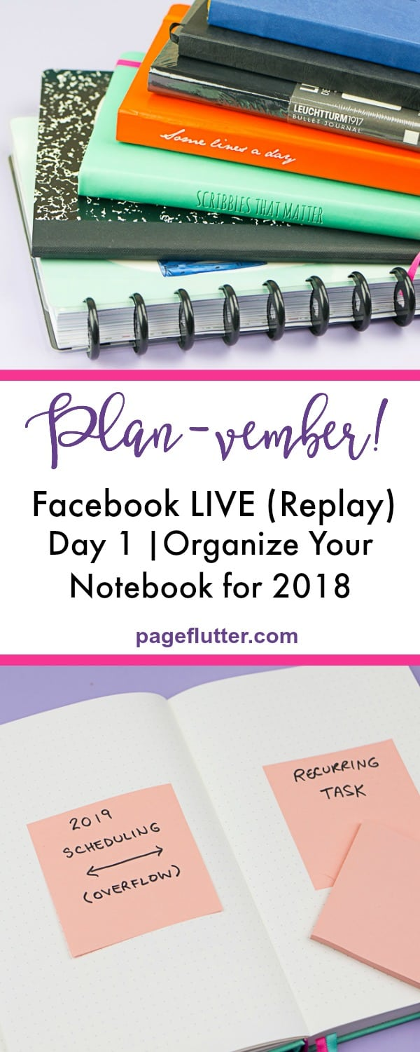 Planvember Day 1 (Facebook LIVE replay). Journal with me, my 2018 Bullet Journal.