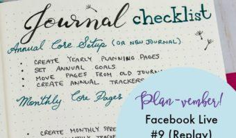Planvember Day 9 |  Planning Checklist in My 2018 Journal!