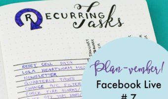 Planvember Day 7   Recurring Task Tracker