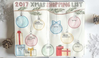 7 Christmas Gift Planning Bullet Journal Layout Inspirations