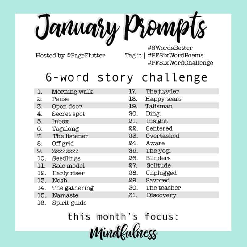 The NEW 6-Word Story Challenge for journaling, writing, self-improvement, mindfulness, and goal setting.