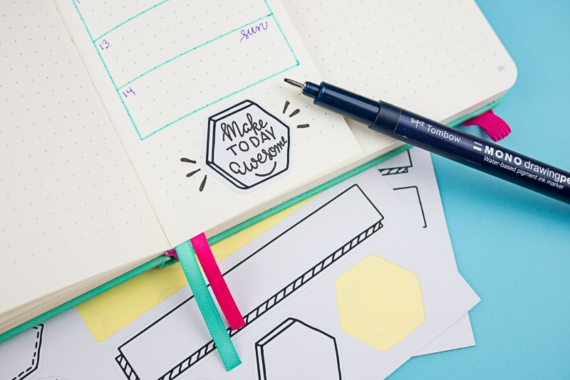 Print and cut your own planner or Bullet Journal stickers. Great for Cricut or Silhouette!