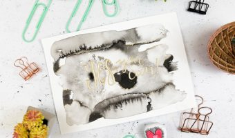 How to Create Sumi Ink Motivational Wall Art