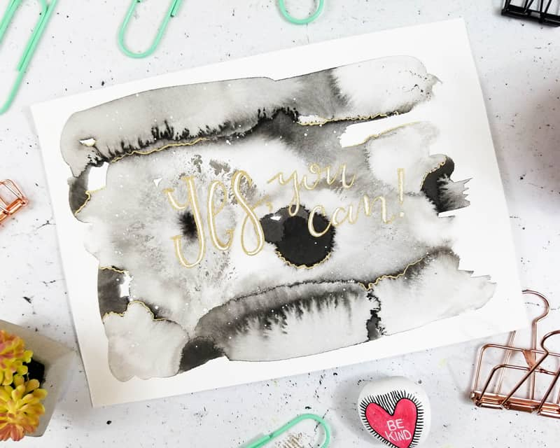 How to Create Sumi Ink Motivational Wall Art | Page Flutter