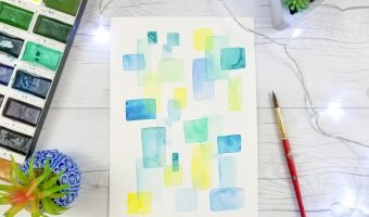 Easy Abstract Watercolor Painting For Beginners