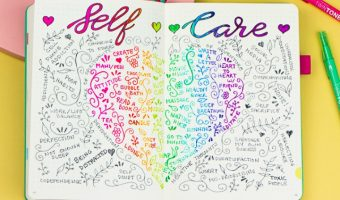 How to Add a Whimsical Self-Care Spread to Your Journal