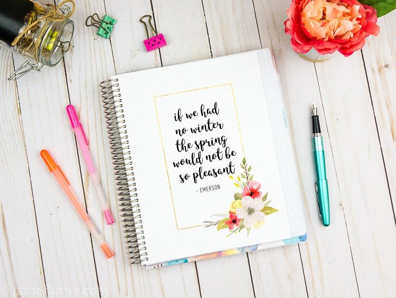 3 Free Spring Planner Art Printables - Fox + Hazel for Page Flutter 3