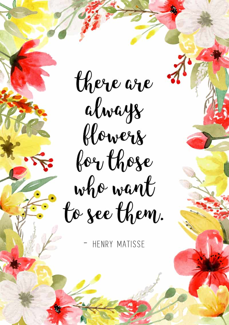 20 Free Floral Art Spring Planner Printables   Page Flutter