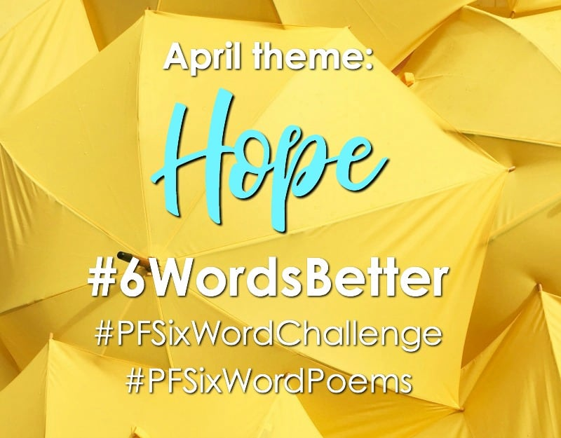Year to a Better You April Prompts! Get your 6-Word Story challenge pages ready in your journal | pageflutter.com