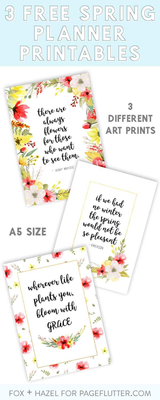 Free Spring Planner Printables - Fox + Hazel for Page Flutter