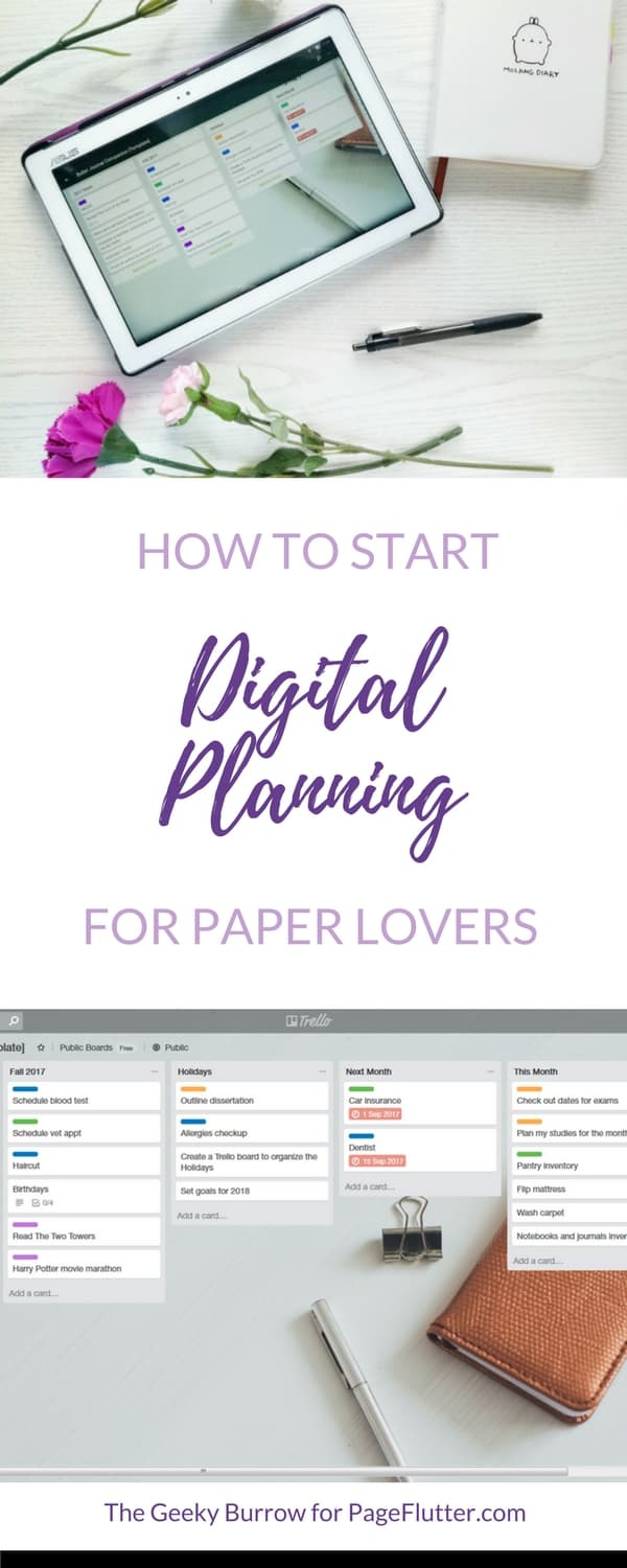 Digital planning is a great supplement to paper planner or Bullet Journal. Boost your productivity with these tips!