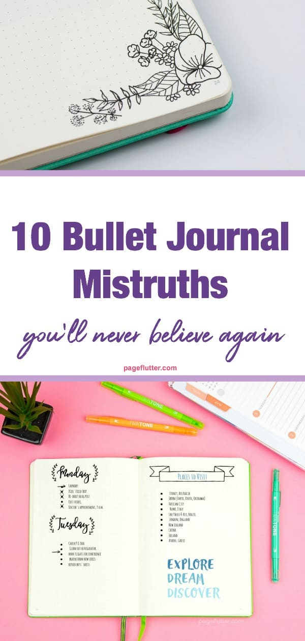 Which Bullet Journal mistruths fooled you? The truth about your favorite system for planning, time management, task management, and productivity.