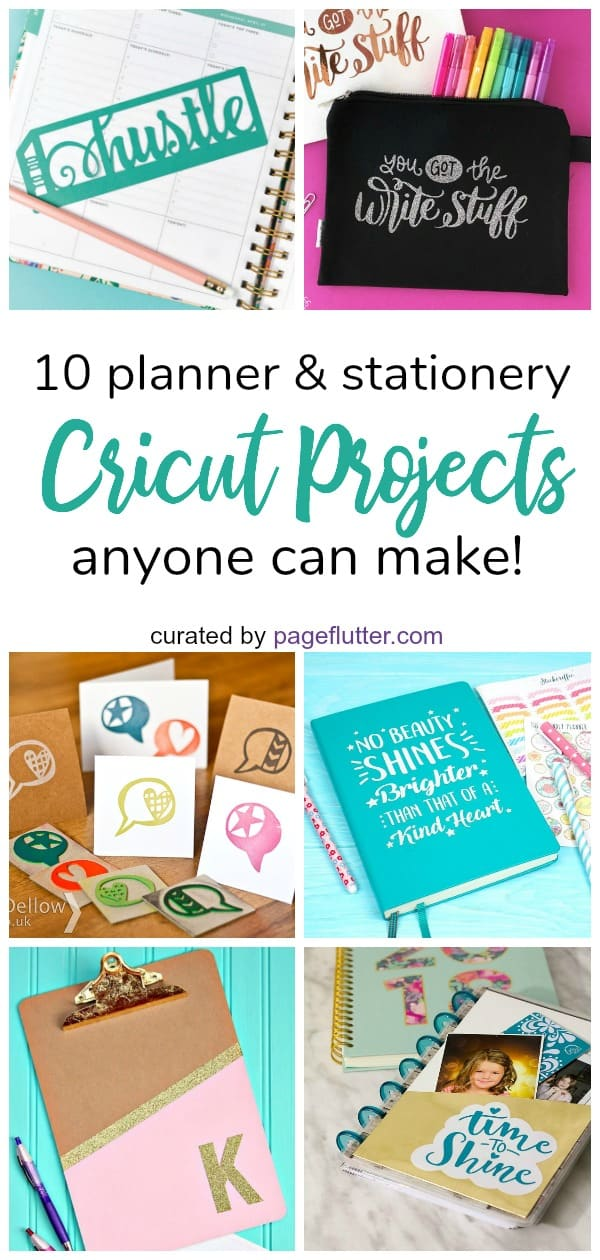 10 Planner Friendly Cricut Projects Anyone Can Make Page Flutter