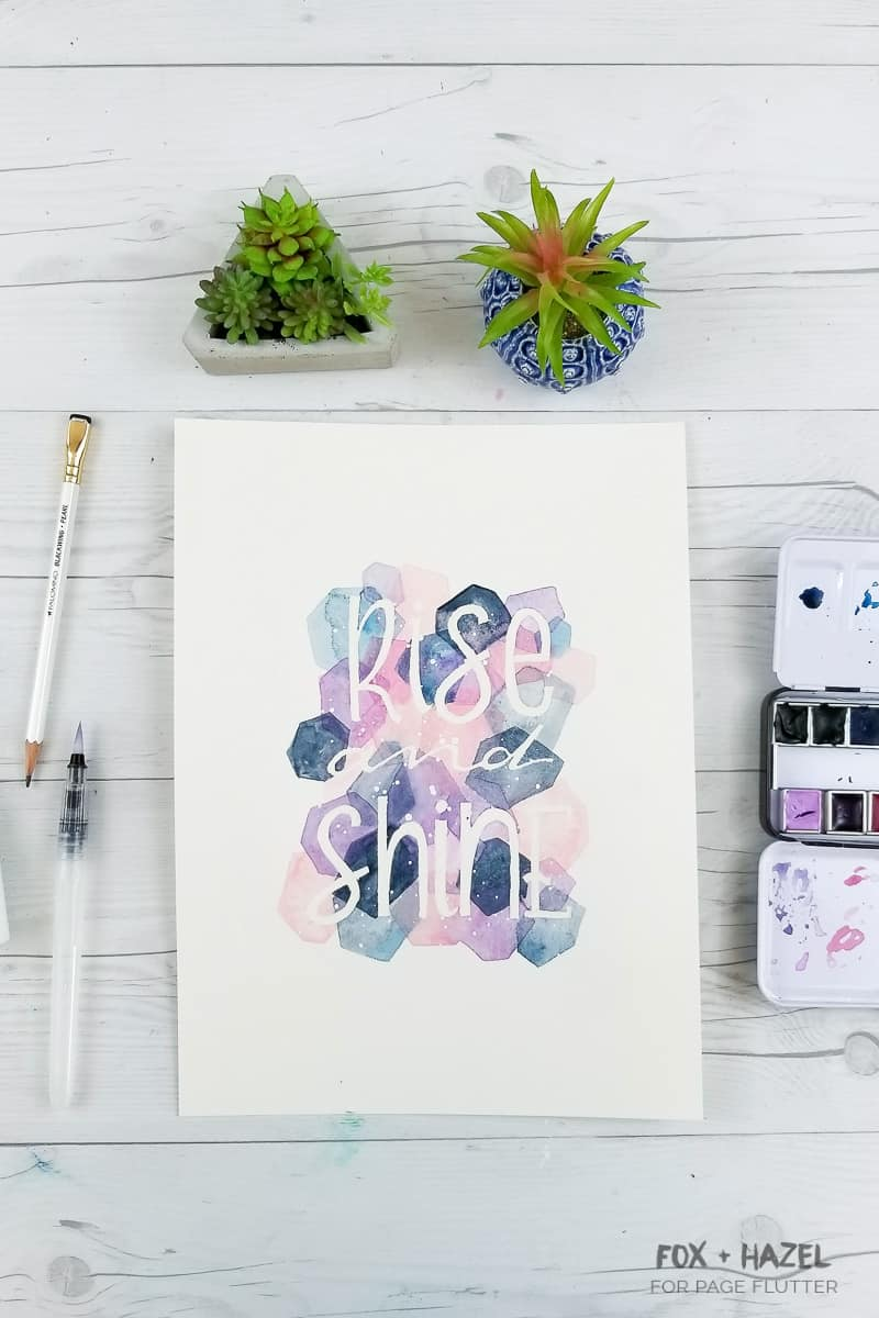 Easy Masking Fluid Watercolor Painting | Fox + Hazel for Page Flutter